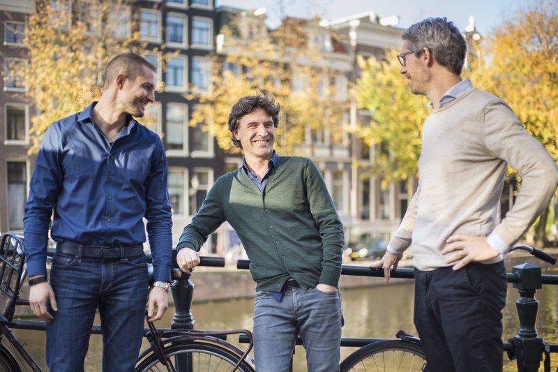 Bux, Egbert Pronk (CFO), Nick Bortot (CEO), Yorick Naeff (COO)