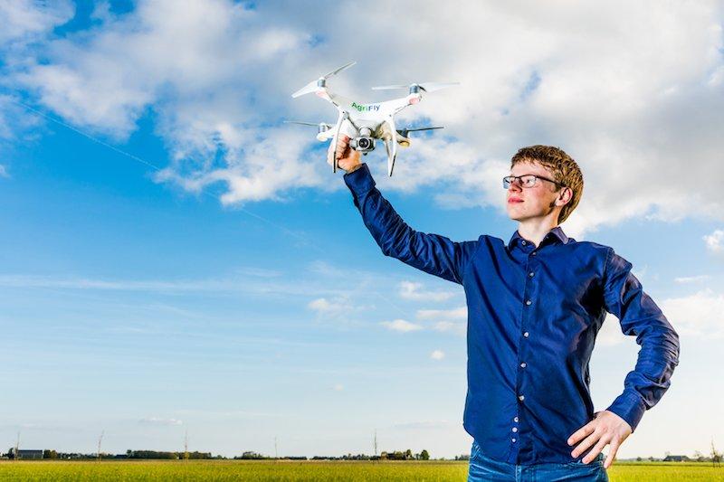 Agrifly drones voor landbouw Wilco Stollenga jonge ondernemer