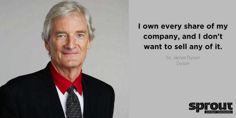 Quote van de dag - James Dyson - Sell my company