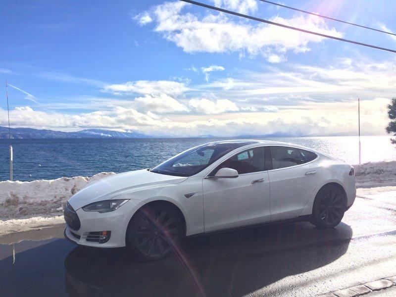 De Tesla van Elon Musk himself