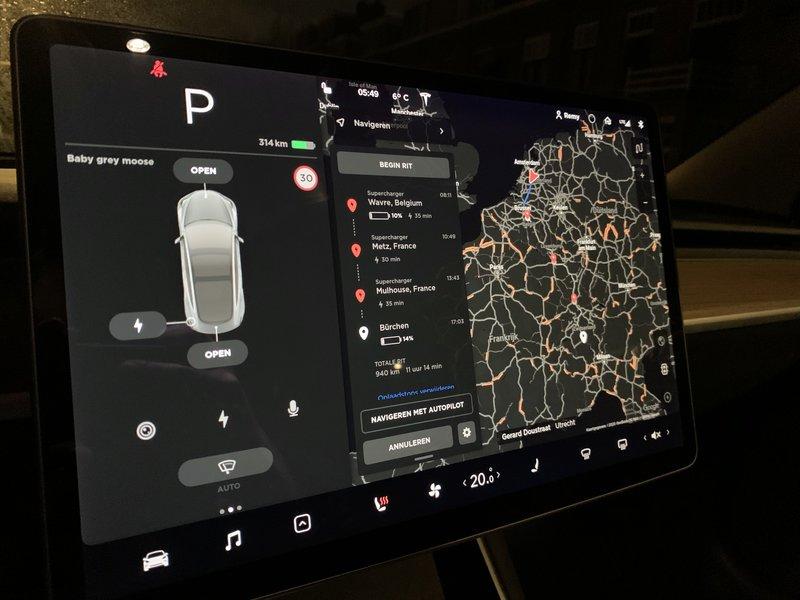 Elektrisch op wintersport / vakantie met de Tesla Model 3