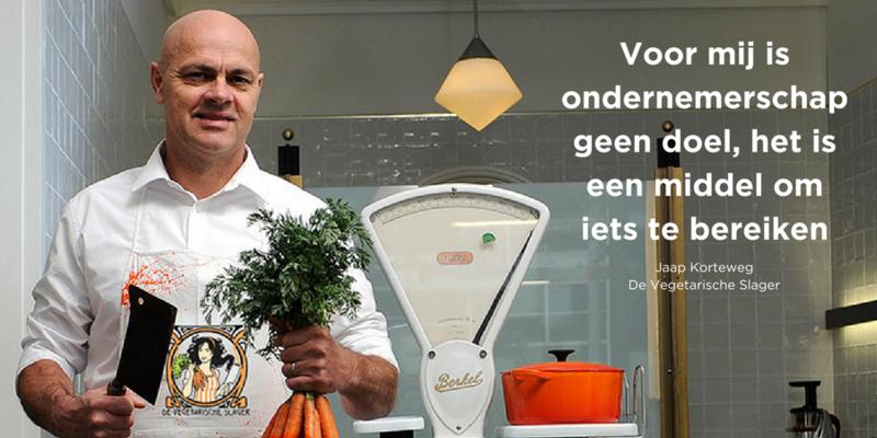 Quote van de dag - Jaap Korteweg - De Vegetarische Slager