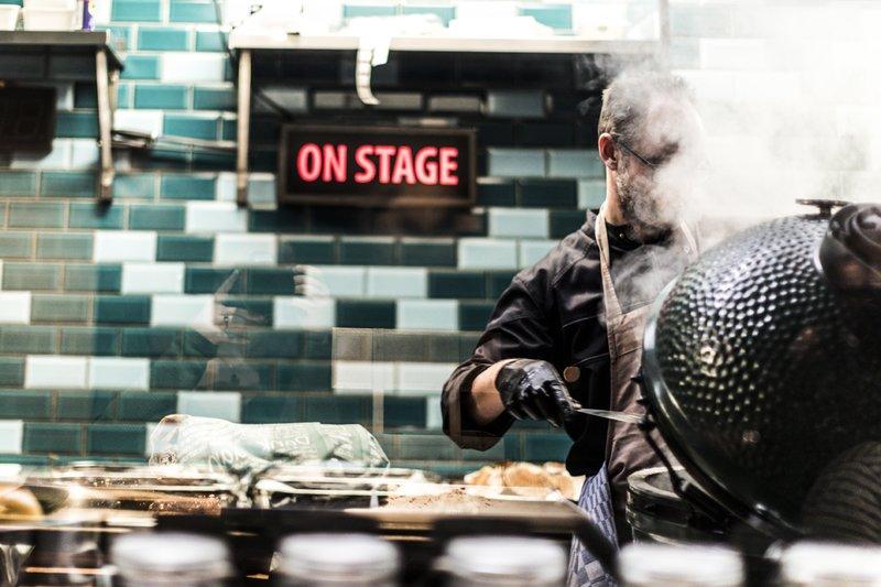 De keuken van Pesca Amsterdam