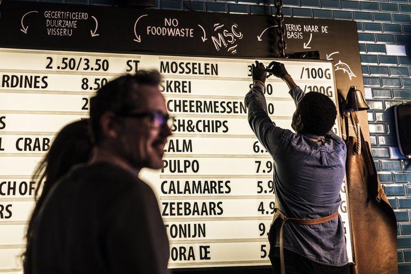 De prijzen bij Pesca Amsterdam