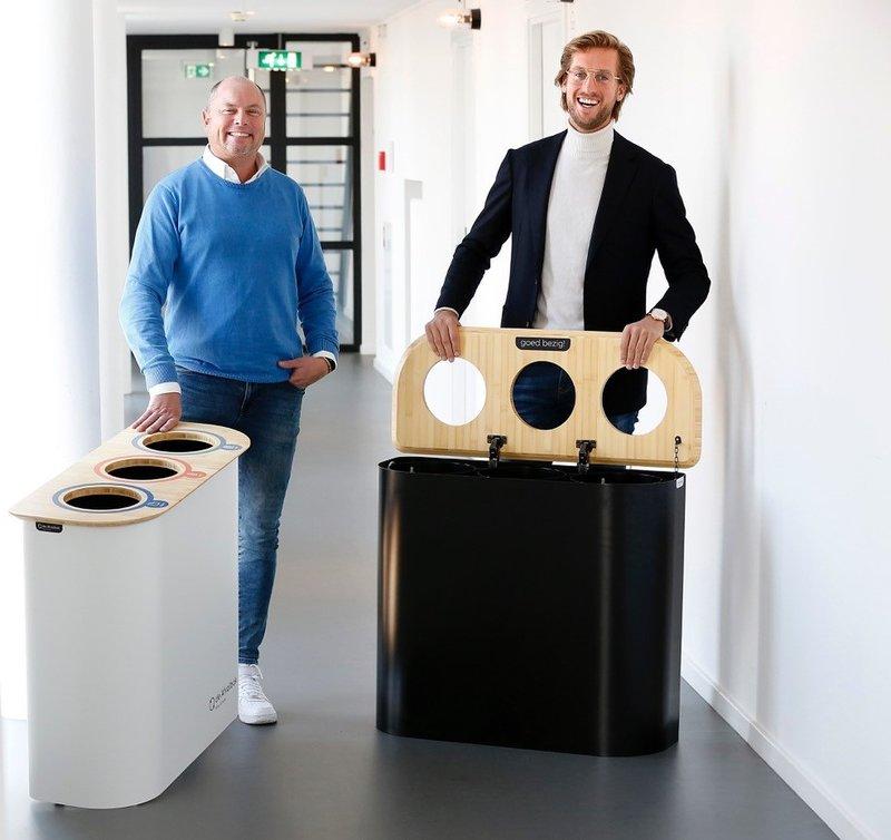 Remco Smits en Philip Lamers van de Afvalbak