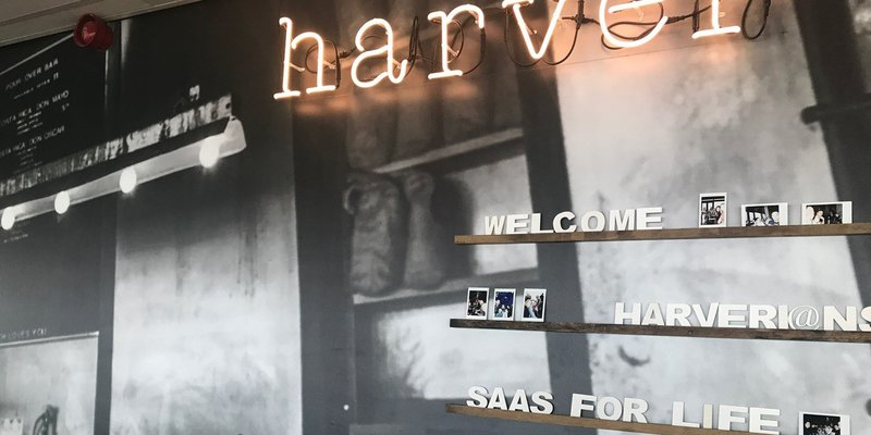 De kantoorruimte van Harver aan het IJ