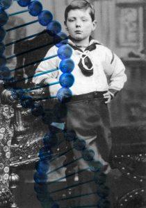 Winston Churchill op 7-jarige leeftijd. De Britse politicus zou beschikken over het juiste 'leiderschapsgen'.