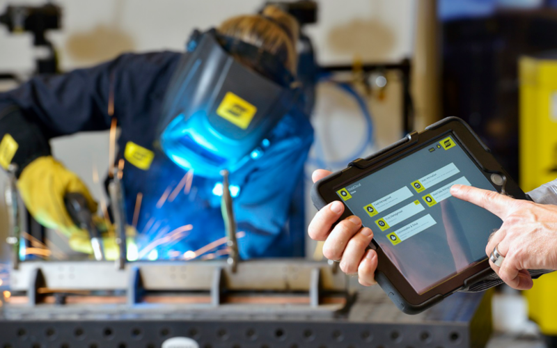 ESAB lassen data in cloud