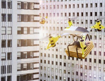 Drone met pakket