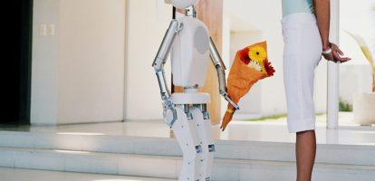 Robot en mens