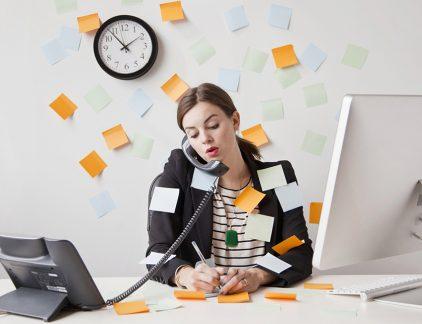 Hoge werkdruk, managers