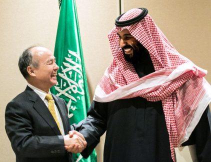 SoftBank CEO Masayoshi Son Signs Solar Project Agreement With Saudi Arabia Crown Prince Mohammed bin Salman MT