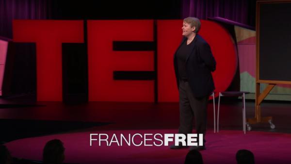 Frances Frei Tedje van de week vertrouwen MT