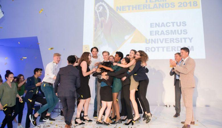 Enactus foto winnaar 2018 sociaal ondernemerschap