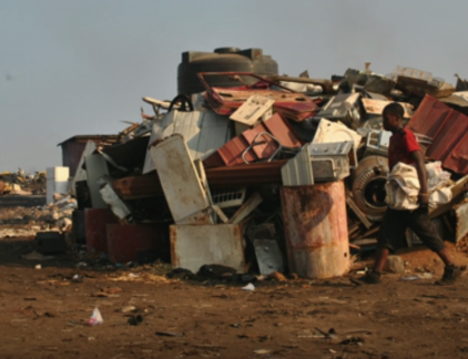 Sloperij Agbogbloshie Ghana DK Osseo-Asare MT Tedje van de week