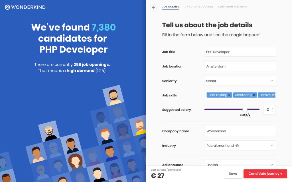 Wonderkind AI recruitment