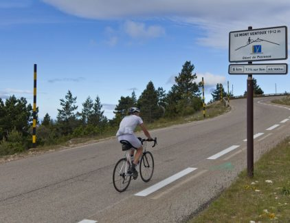 Mont Ventoux op spanning komen column MT