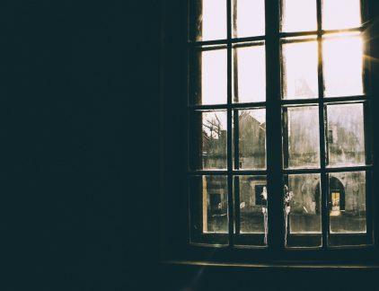 raam winter donker