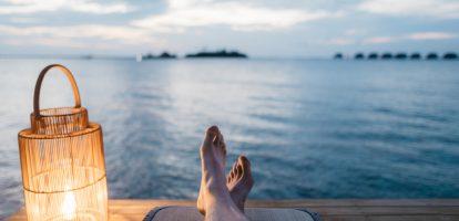 luieren voeten water