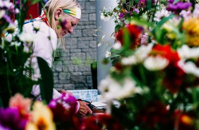 Beginnend leider bloemen