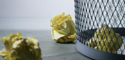 Zin en onzin prestaties - papierproppen