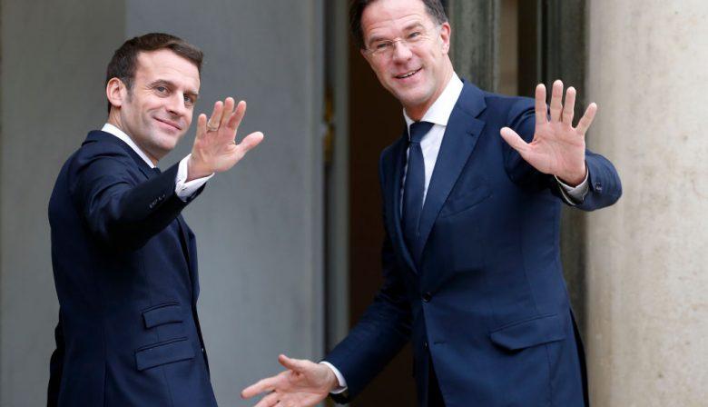 Macron en Mark Rutte