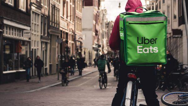 Uber Eats fietskoerier logistiek Amsterdam