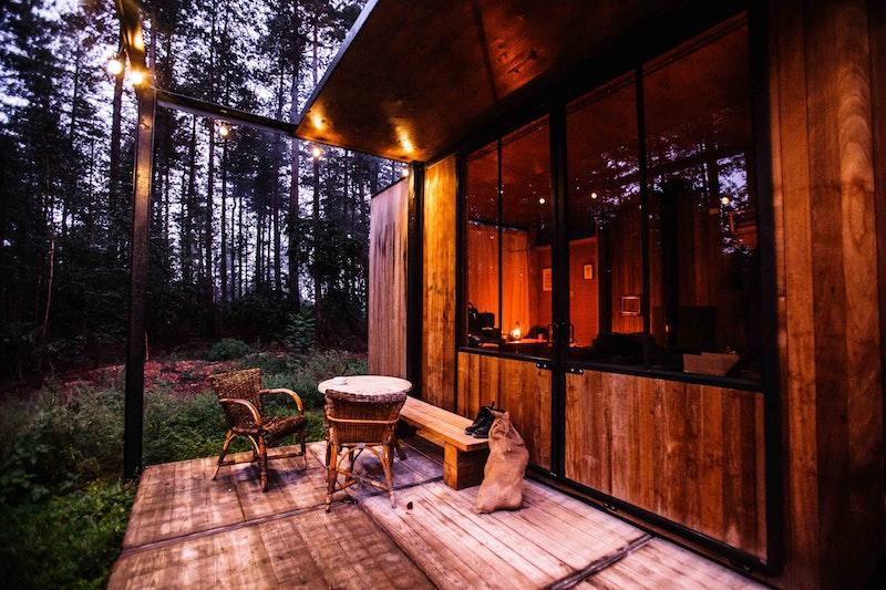 Thuiswerken in het bos