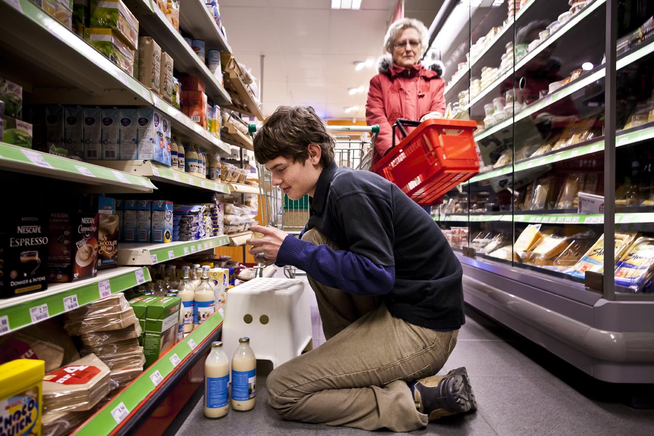 Supermarkt Attent werkt met arbeidsgehandicapten